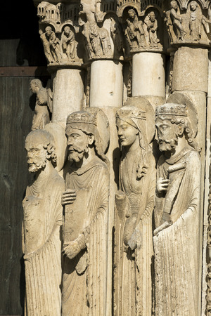 chartres: Statues in the cathedral of Chartres,  Eure-et-Loir, centre-val de loire, France Stock Photo