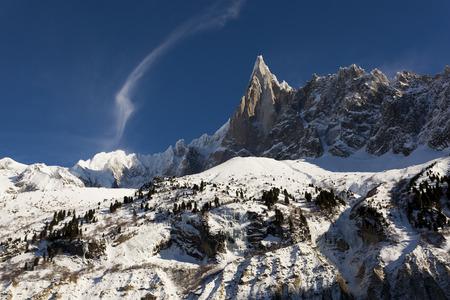 glace: Aiguilles du Alpes from the Mer de Glace, Chamonix,  Savoie, Rh�ne-Alpes, France Stock Photo