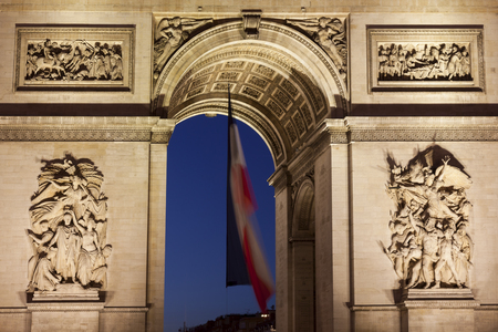 charles de gaulle: Arc de Triomphe in the Charles de Gaulle square, Paris, Ile-de-France, France