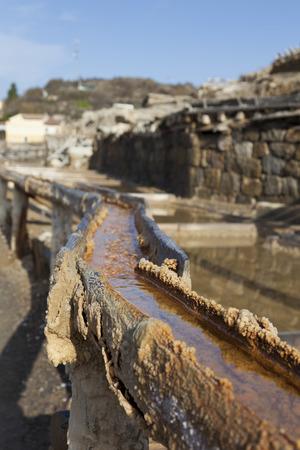 alava: Old salt flats, Añana, Alava, Basque Country, Spain Stock Photo