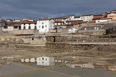 alava: View of Salinas de A�ana, Alava, Basque Country, Spain