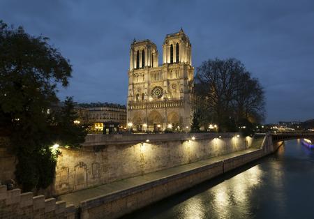 notre dame cathedral: Notre dame Cathedral, Paris, Ile de France, France Stock Photo