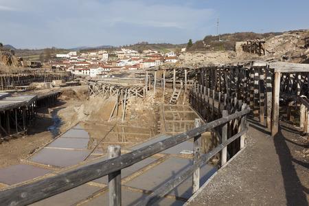 alava: Old salt flats, A�ana, Alava, Basque Country, Spain
