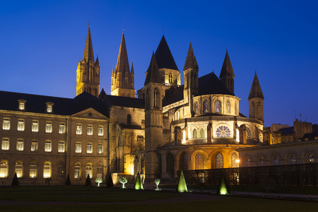 LAbbaye-aux-Hommes, Church of Saint Etienne, Caen, Normandy, France Stock Photo