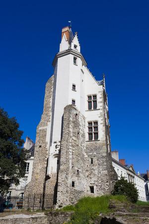 pierre: Building of Saint Pierre gate, Nantes, Pays de la Loire, France
