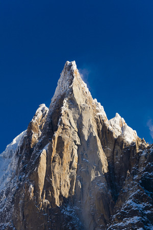 Alpes: Aiguilles du Alpes from the Mer de Glace, Chamonix,  Savoie, Rhone-Alpes, France Stock Photo