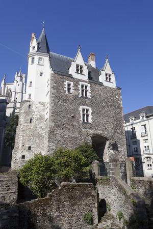 pays: Building of Saint Pierre gate, Nantes, Pays de la Loire, France