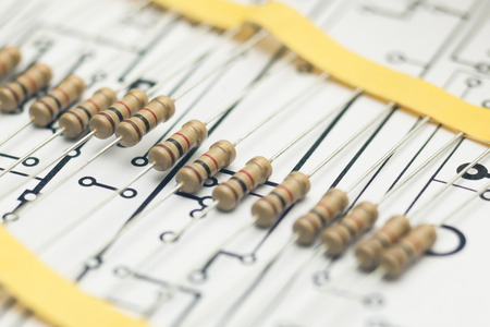 electronic: Electronic resistors and electronic PCB
