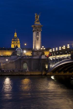 Alexandre III bridge, Paris, Ile-de-france, France Stock Photo