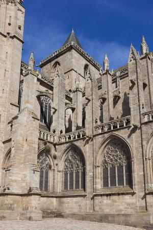 bretagne: Cathedral of Treguier, Cotes d�armor, Bretagne, France Stock Photo