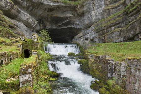 Source de la Loue, river Doubs, Ouhans, Jura, Franche Comte, France Stock Photo
