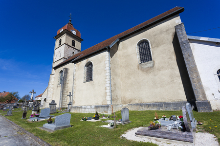 Church of Evillers, Jura, Franche Comte, France