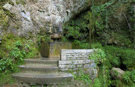 Fountain in the sanctuary of Covandonga, Asturias, Spain