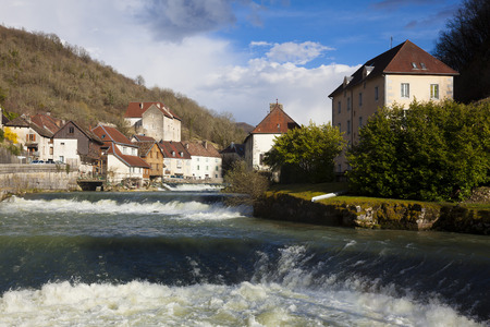 View of Lods, Doubs,  Bourgogne-Franche-Comte, France