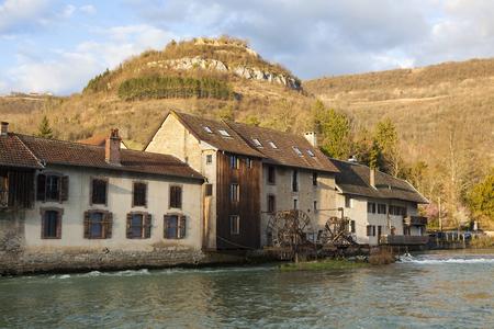 Architecture of Vuillafans, Bourgogne Franche-Comte, France