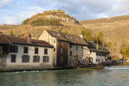 Architecture of Vuillafans, Bourgogne Franche-Comte, France Stock Photo - 99427397