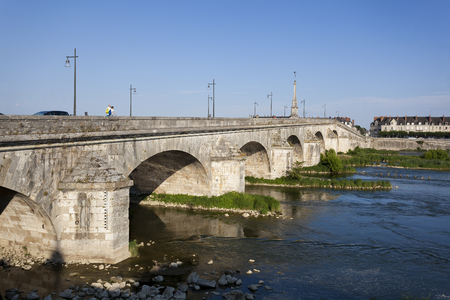 Bridge of Blois, Loir et cher, France Banco de Imagens
