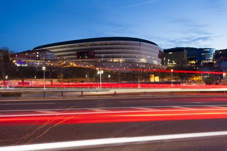 San Mames stadium, Bilbao, Bizkaia, Basque Country, Spain Stock Photo
