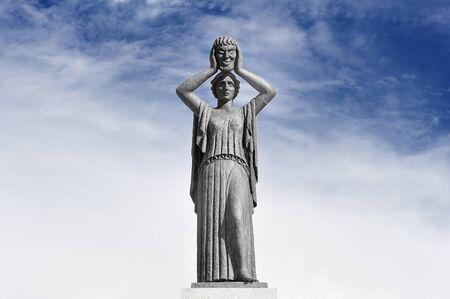 Melpomene, lit. 'to sing' or 'the one that is melodious, initially the Muse of Chorus, she then became the Muse of Tragedy, for which she is best known now.