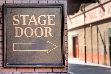 group direction: Stage door panel  Music hall back entrance