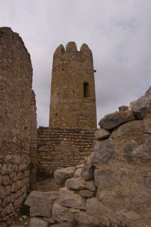 Ulldecona Castle is a fortification located in Ulldecona in comarcacatalana of Montsi, Spain. Stock Photo