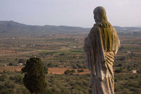 Ermita de la Piedad (Ulldecona - Tarragona), where the region of La serralada be seen in Montsiā (Catalonia - Spain) photo