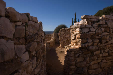 archaeologist: The archaeological site Puig de la Nao, has six phases of occupation ranging from the year 700 to 400 BC. Its population based econmica tena as agriculture, fisheries ganaderay. Due to their geographical position along the med Stock Photo