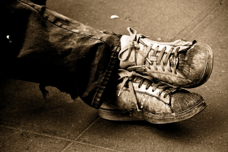 tramp: My old shoes