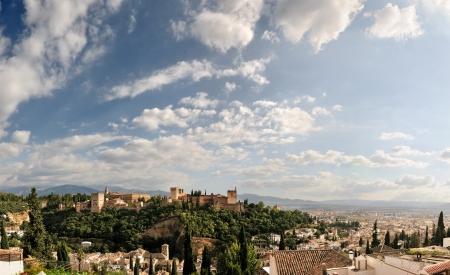 granada: Alhambra and Granada landscape Stock Photo