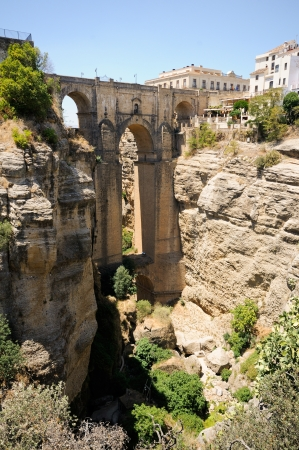 New bridge in Ronda, one of the famous white villages in Málaga, Andalusia, Spain photo
