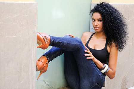 Portrait of a young black woman Stock Photo