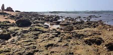 Beach of the Wall of Puerto Sherry, in Puerto de Santa María, Cádiz, Andalusia, Spain. 写真素材 - 107236089