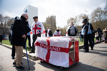 London, England 13th April 2019 - Leave Means Leave demonstration in Westminster Abbey. Editorial
