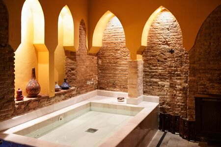Arabic baths Hammam in Granada, Andalusia, Spain.