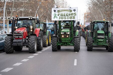 Demonstration of Farmers protesting against unfair prices