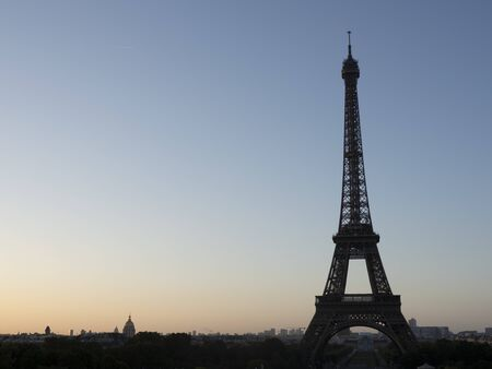 Eiffel tower, Paris. France: sunrise in a big city