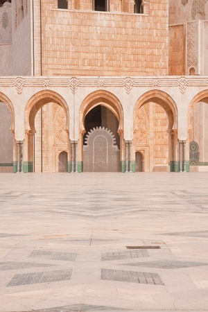 Arches in the Hassan II Mosque in Morocco Stock Photo - 9234974