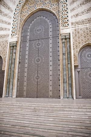 Arab door in the Hassan II Mosque in Casablanca, Morocco