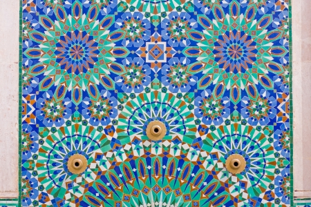 Arab mosaic in Hassan II Mosque in Casablanca, Morocco Stock Photo - 9234978
