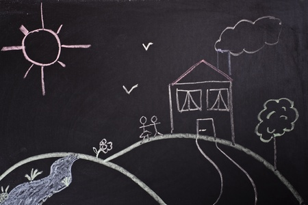 beautiful scene in blackboard
