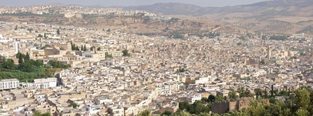 City of fes panorama Foto de archivo