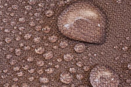 Water drops in a waterproof cloth