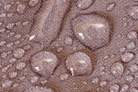 Water drops in a waterproof cloth photo
