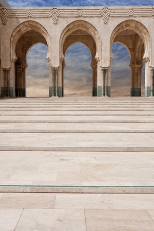 Arab arches in the Hassan II mosque in Casablanca, Morocco Stock Photo - 9730443
