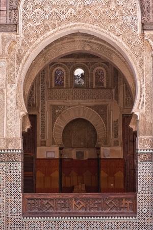 erg: Arab door in the university of Fes, Morocco
