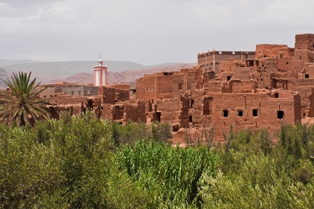 Adobe buildings in the desert