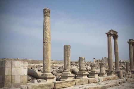 Ruines romaines de la ville de Jerash en Jordanie Banque d'images - 10731502