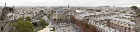 Panoramic view of Paris from the Notre Dame Cathedral photo