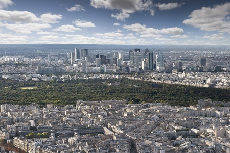 Financial city Defense from the Eiffel Tower in Paris photo