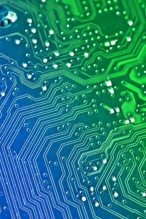 Electronic board background  Color added with editing software
